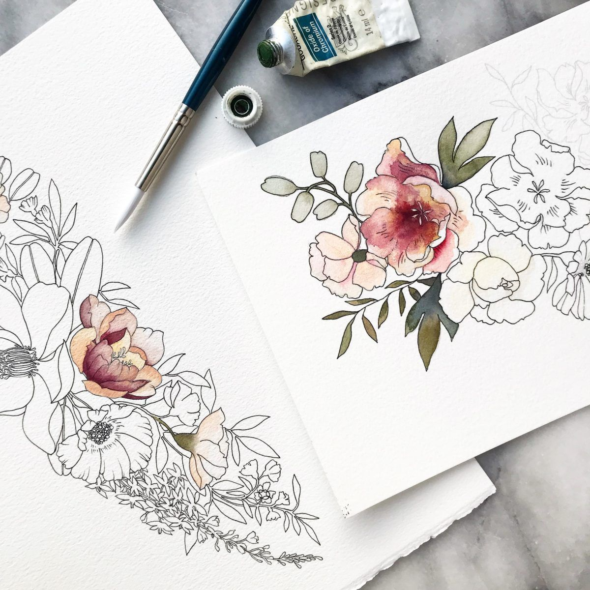 Watercolor Floral Painting With Sarah Simon Wallingford Floral