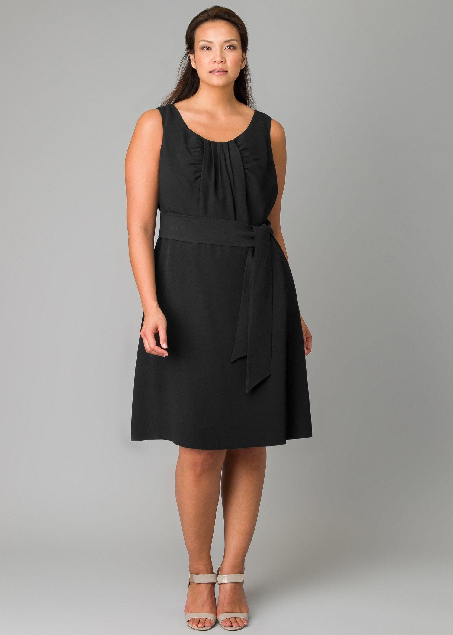 Plussize viscose crepe ruby dress womens dresses u designer
