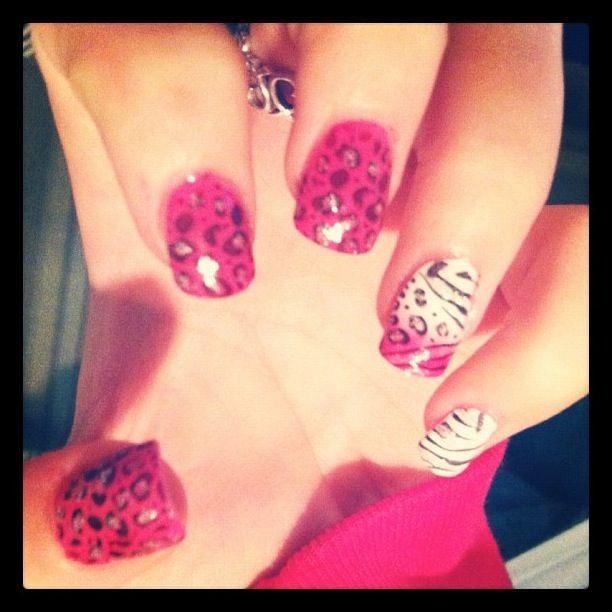 Pink cheetah and zebra