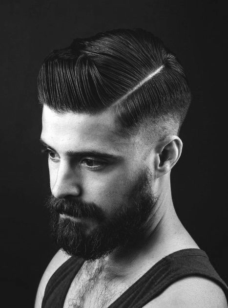 40 Hard Part Haircuts For Men Sharp Straight Line Style In 2020 Herrenschnitte Haarschnitt Manner Hipster Frisur