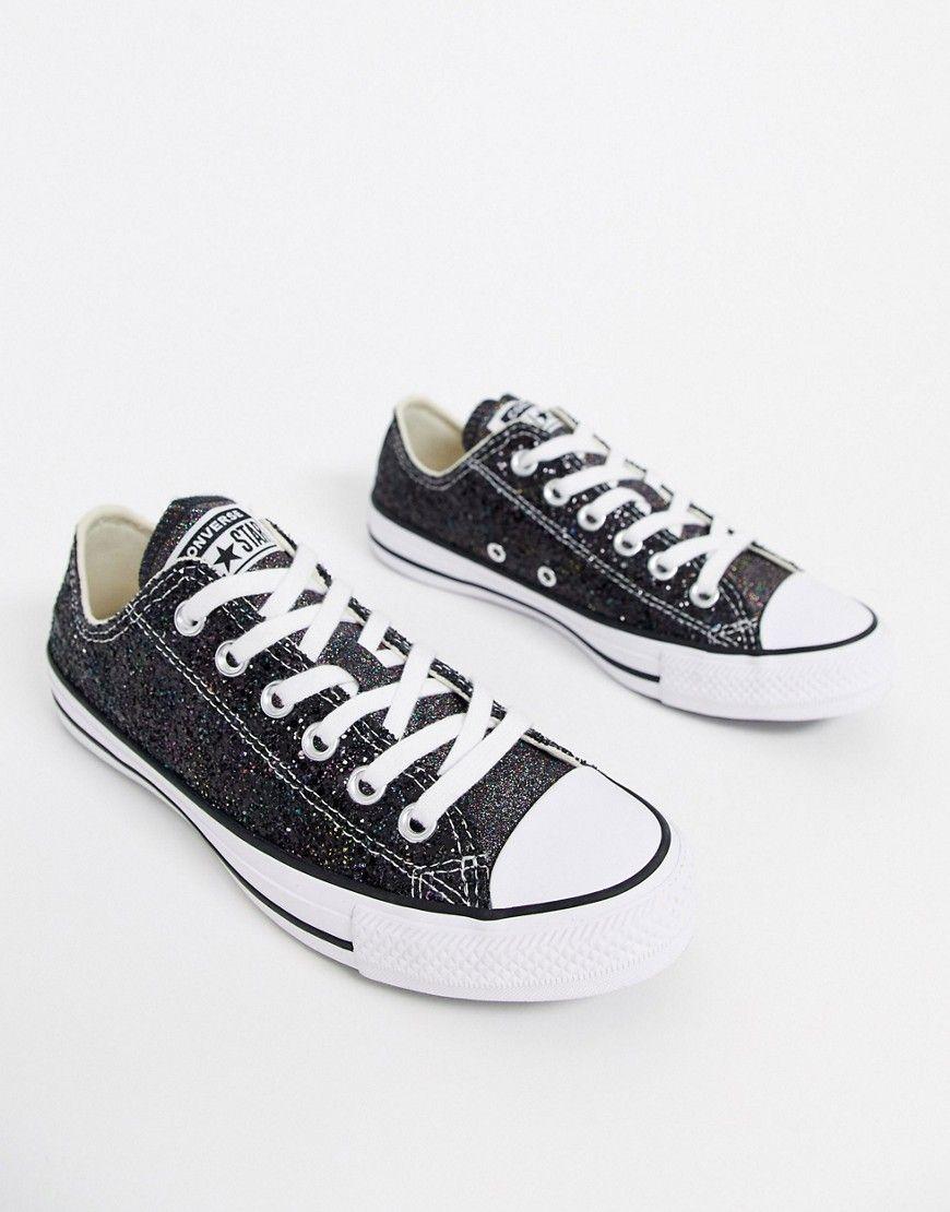 Converse Chuck Taylor Ox Black Glitter