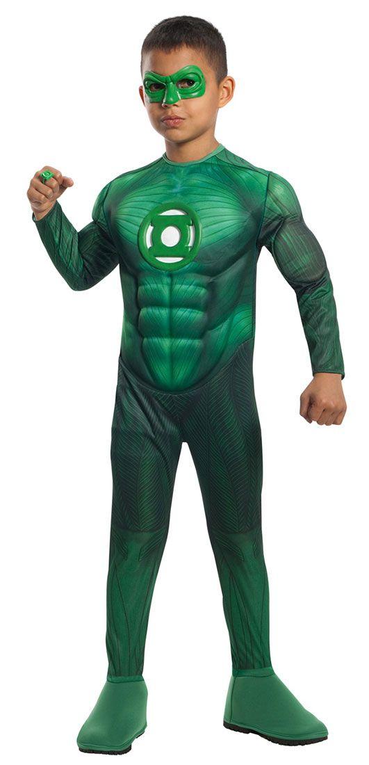 Green Lantern Gloves Adult Mens Hal Jordan Costume Fancy Dress