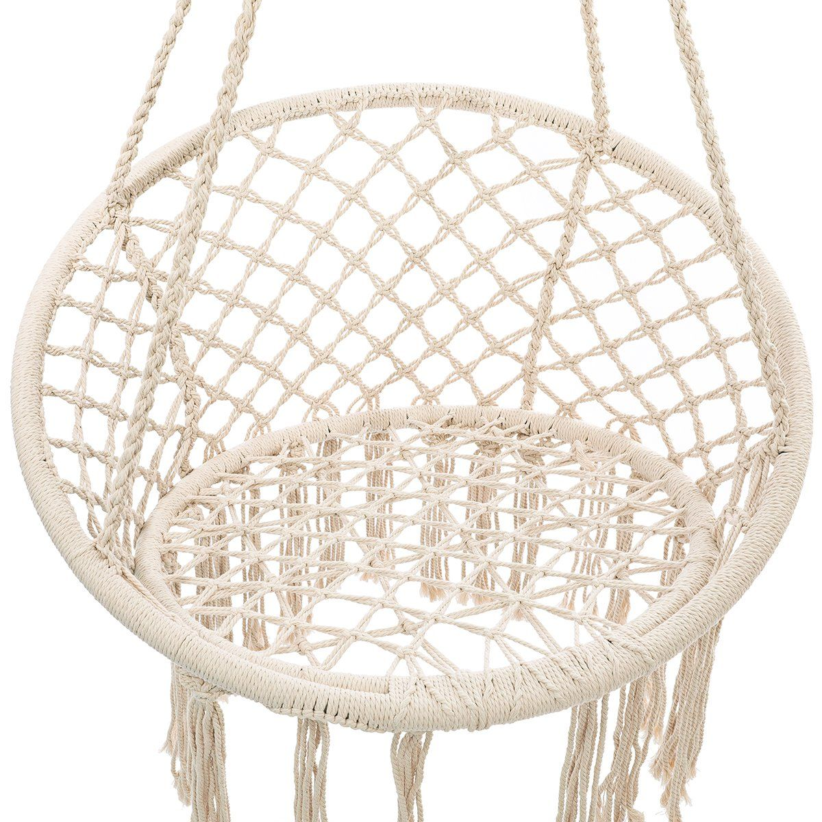Hammock Chair Macrame Swing, Room Decor Handmade Knitted