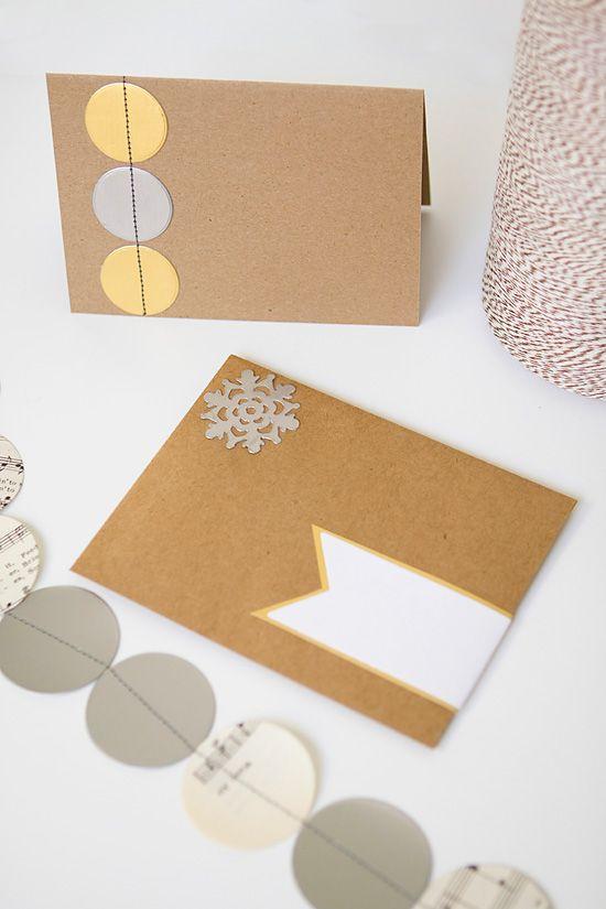 DIY easy christmas stationary, write christmas cards to your
