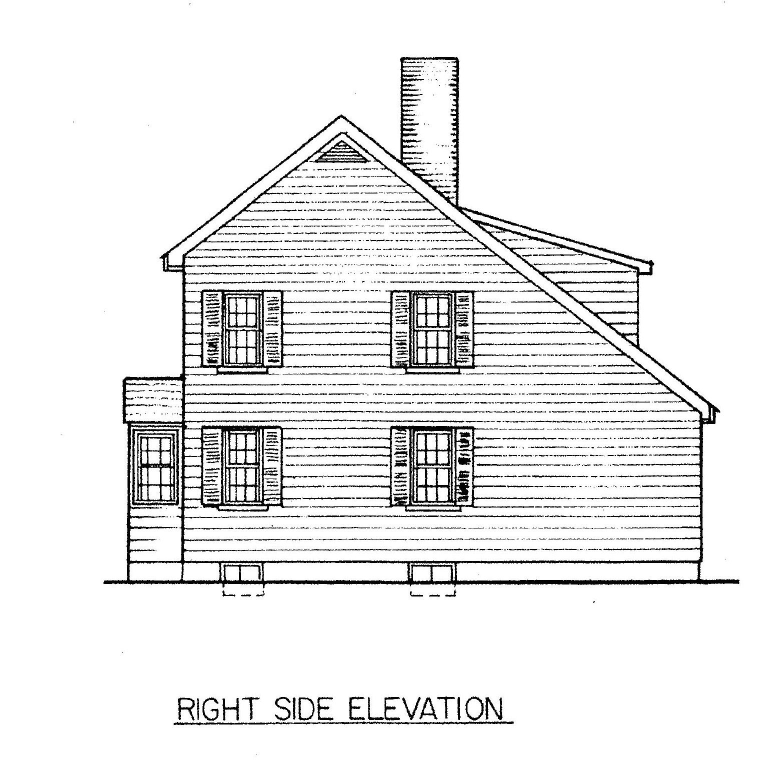 Saltbox House Plan View of Right Side | Saltbox houses ...