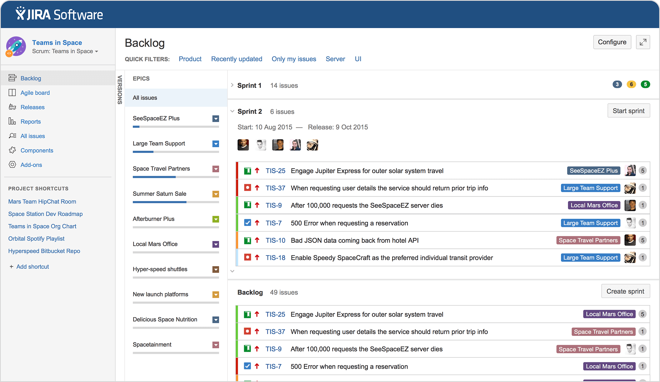 Jira Software Issue Project Tracking For Software Teams Atlassian Project Management Tools Project Management Agile Project Management