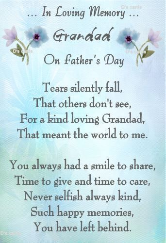 father/'s day in memory HUSBAND memorial card graveside cards holder birthday