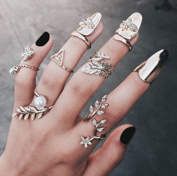 c9e7bb3336776 Pin by Sayar Shadel on I-Heart-Fashion in 2019 | Nail ring, Nail ...