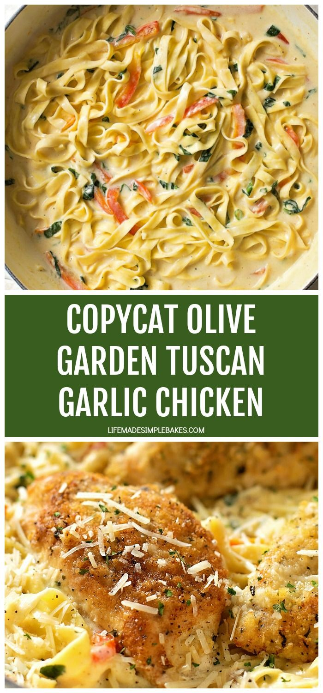 Photo of Tuscan Garlic Chicken {Olive Garden Copycat}   Life Made Simple