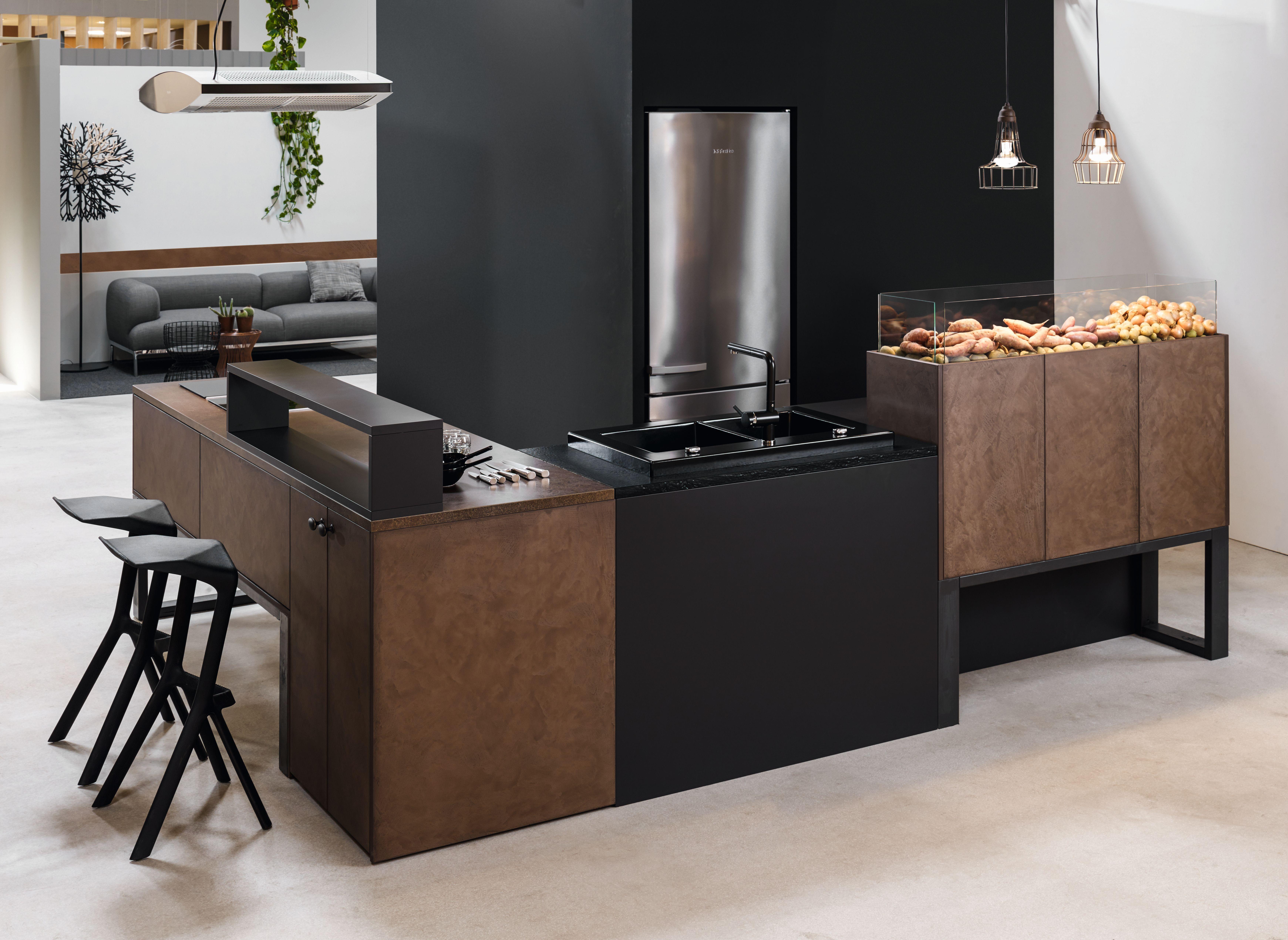 KH Küche Beton Rostbraun KH kitchen concrete rust brown