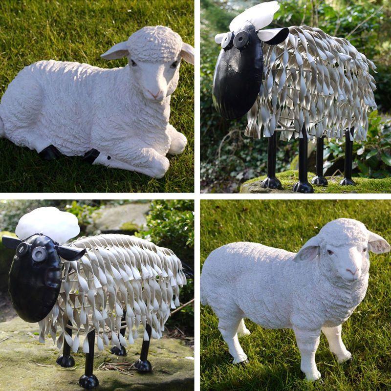 #Sheep Lamb Garden Ornament Farmyard Animal Patio Sculptures #statue Metal  #resin, View
