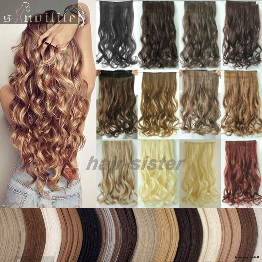 Mega Thick Clip In On Hair Extensions One Piece Straight Curly Wavy