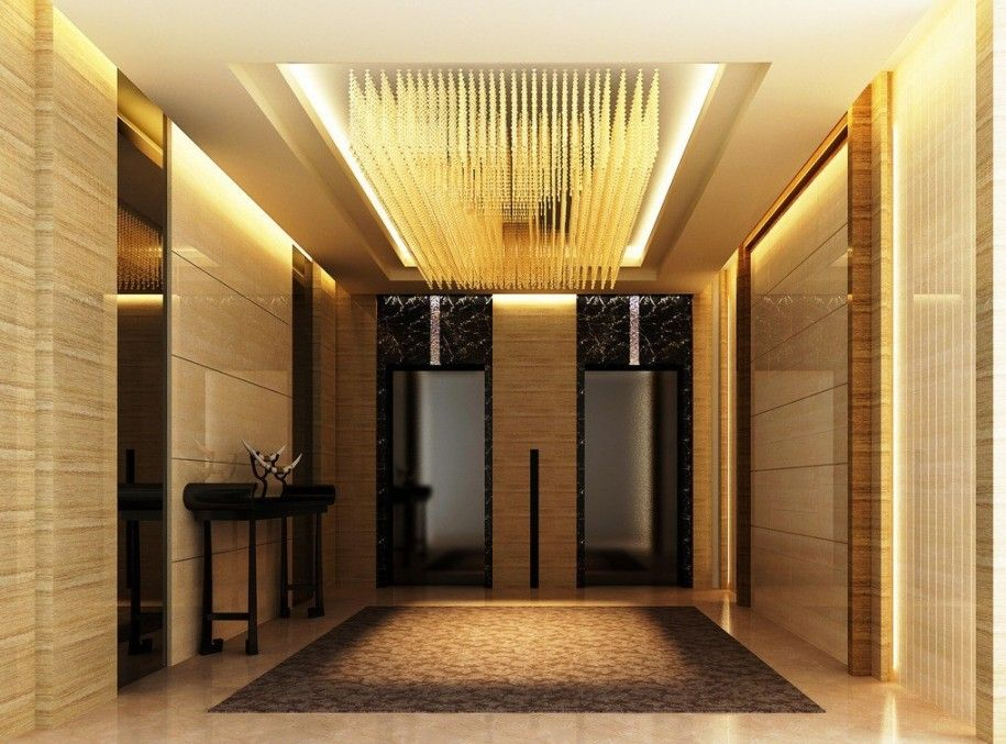 modern elevator lobby design luxury elevator hall ceiling design