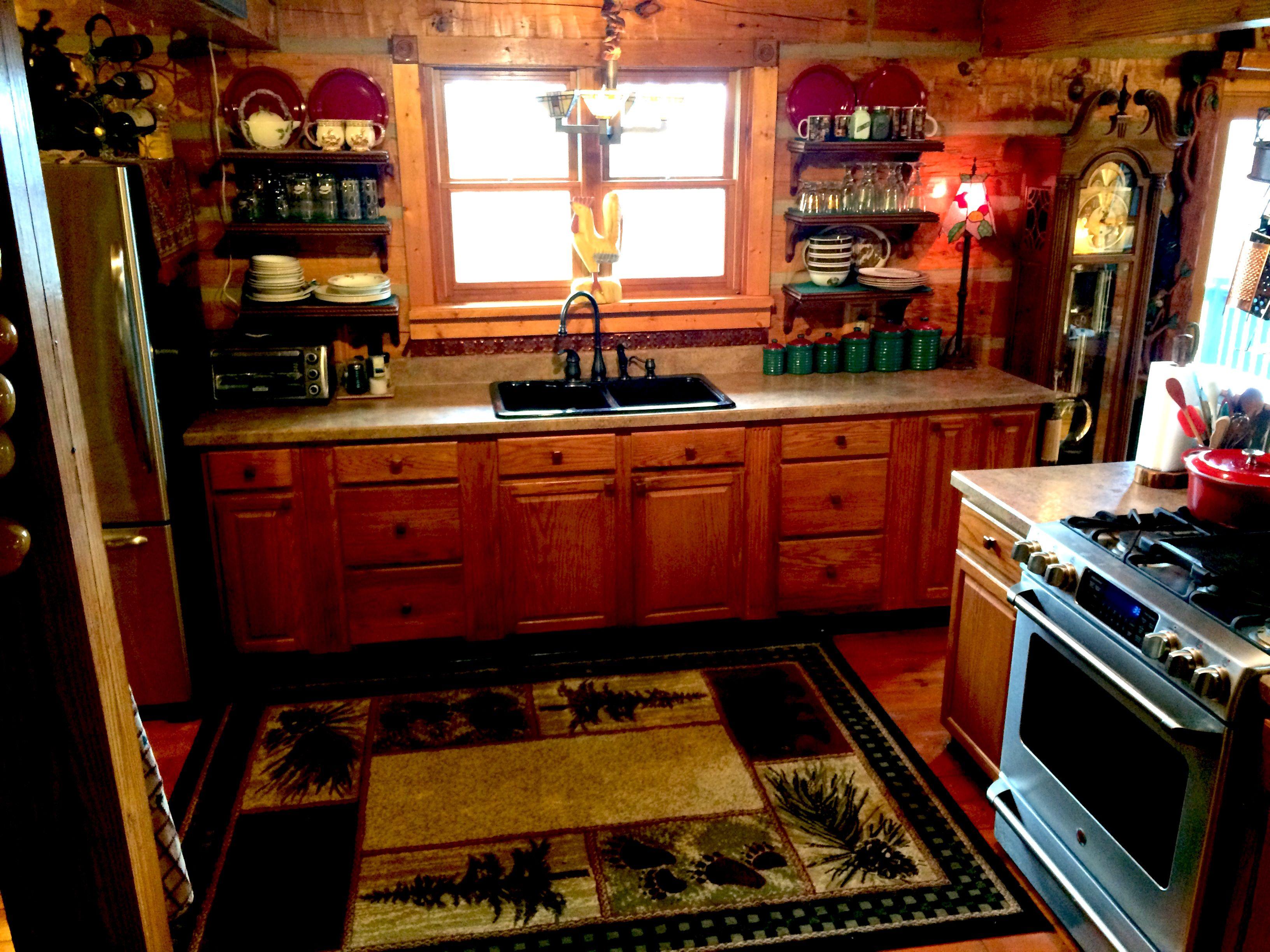 The Old Cabin Kitchen Cabin Kitchens Cabin Homes Log Cabin Homes