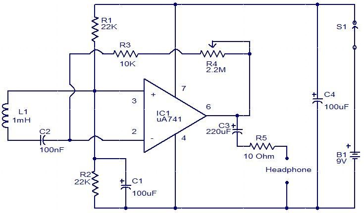 EMF sensor circuit using inductor and Opamp#circuits #electronics