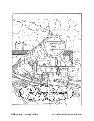 Learn About Trains with a Free Printable Train Coloring Book!