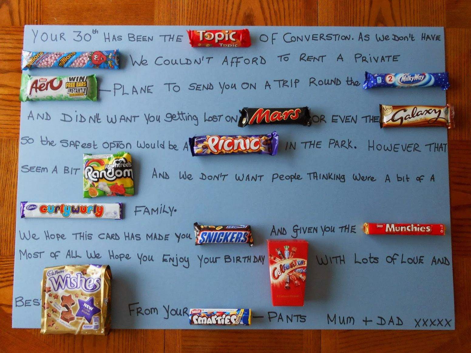 10 Custom Birthday Card Using Candy Bars Chocolate Card Birthday Chocolate Bar Card Birthday Cards For Boyfriend