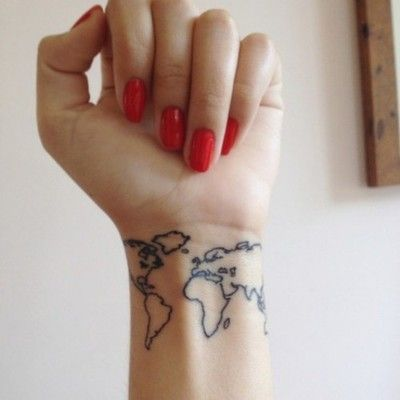 Tumblr maps maps maps pinterest maps maps maps world map tattoo not sure about the placement but how cool would it be to have a small world map somewhere and just get a dot of color everywhere you gumiabroncs Image collections