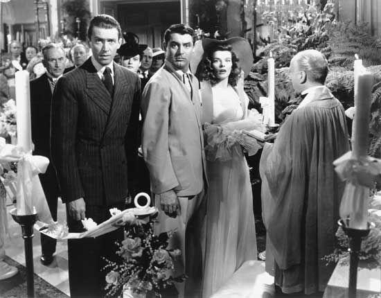 James Stewart, Cary Grant, Katharine Hepburn in Scandalo a Filadelfia (1940) di George Cukor