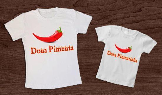 564f3c116d Camisetas com frases divertidas e criativas para mãe e filha