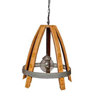 Look what I found at UncommonGoods: Recycled Wine Stave Chandelier for $575 #uncommongoods