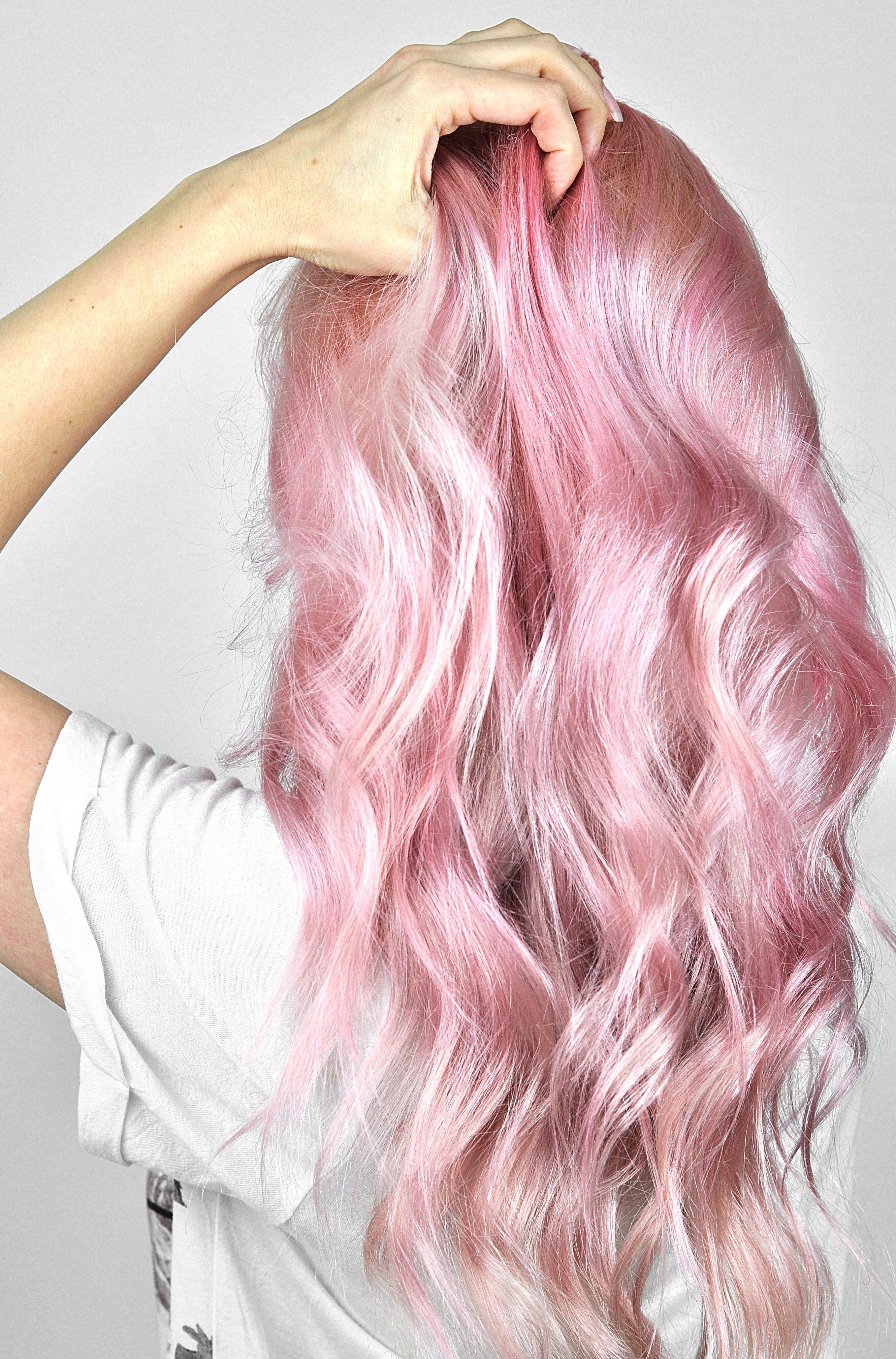 Overtone Rose Gold Review And Tutorial Pastel Pink Hair Hair Color Pink Hair Color Remover