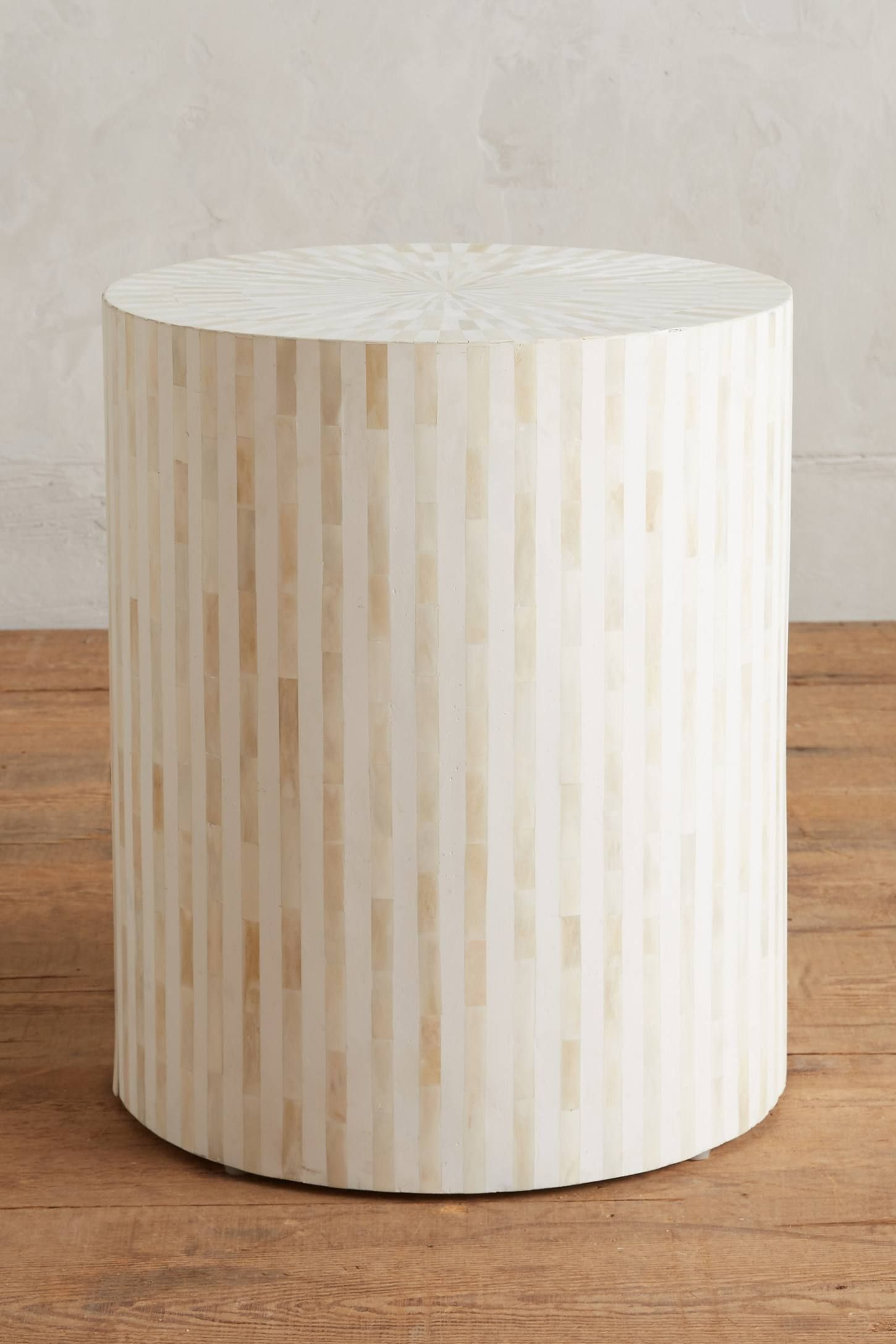Rounded Inlay Side Table | Living rooms, Coastal and Apartments