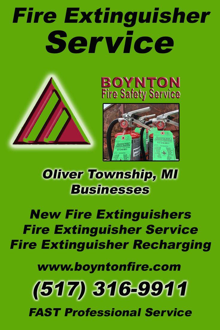 Fire extinguisher service oliver township 517 3169911