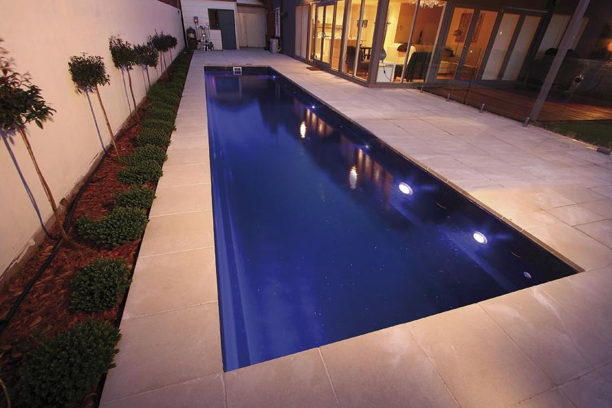 inground concrete swimming pool (lap pool) FAST LANE COMPASS ...