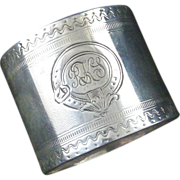 Antique Victorian Era Sterling Silver Child's Napkin Ring Christening Gift