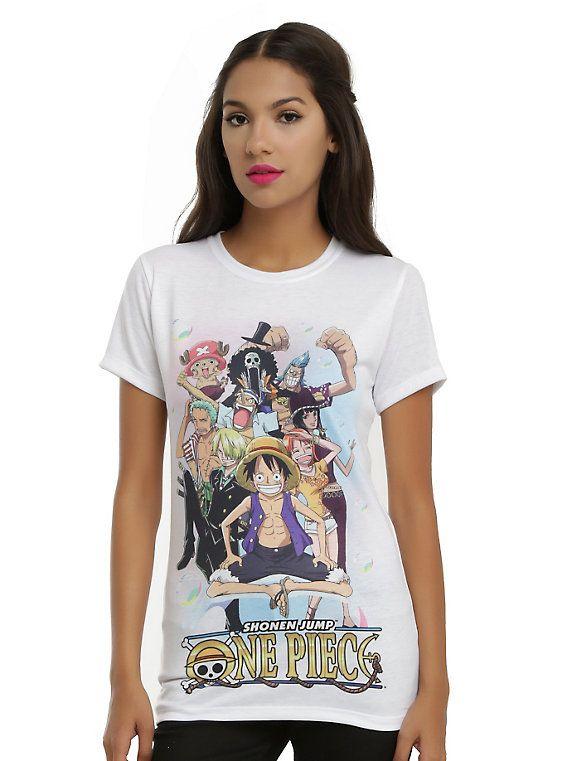 One Piece Characters Girls T Shirt Geeky Fashion Girls Tshirts One Piece