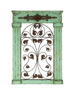 Metal Gate Wall Decor tuscan old world rustic metal and wood scroll wall gate wall decor