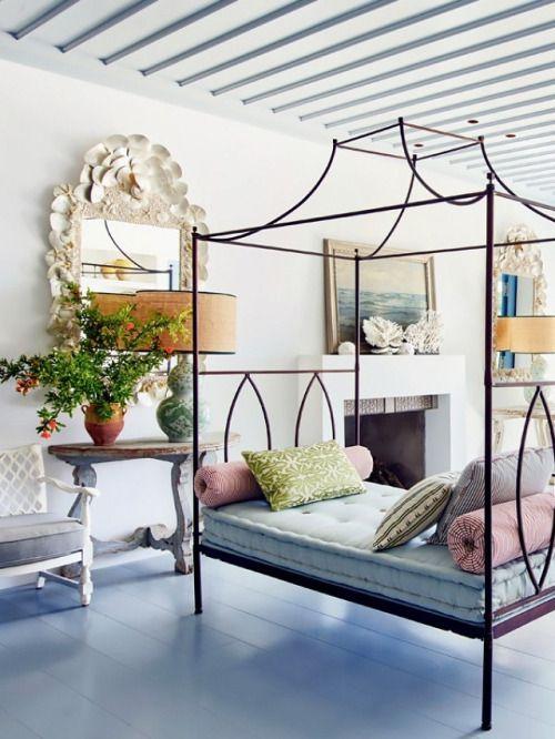 """(via Inside a Serene Greek Villa With Majestic Mediterranean Views   MyDomaine) """