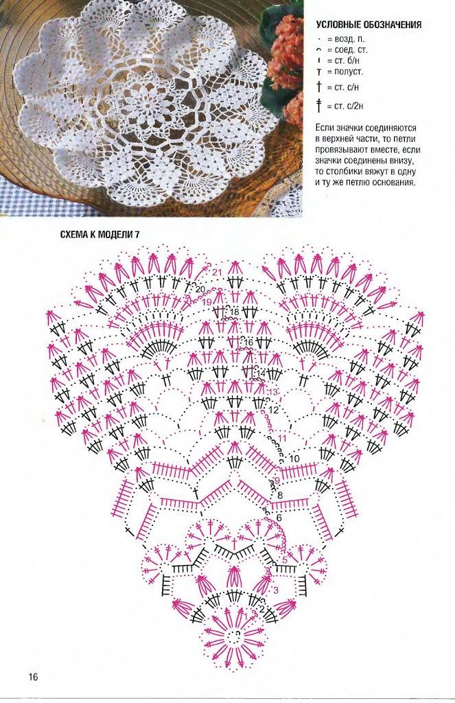 Picasa Web Albums beautiful diamond & fan crocheted doily in filet ...