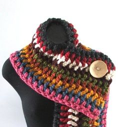 Chunky Knit Fringed Cowl Scarf in Silver / Red/ Purple / Cream / Lemongrassâ?¦