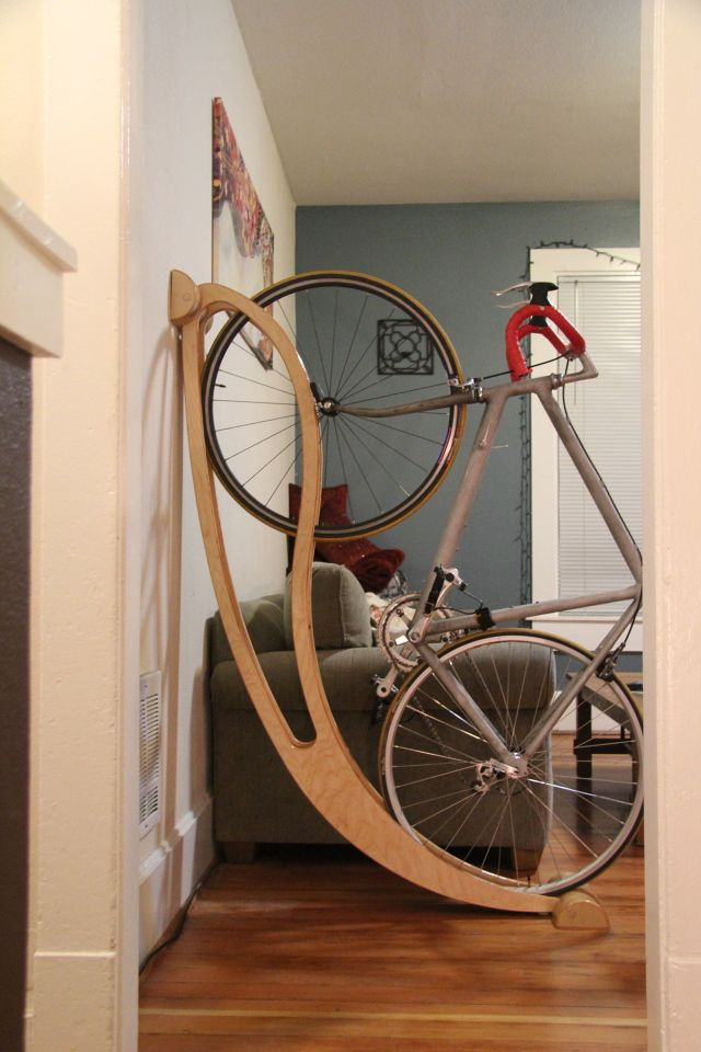 Best bike rack ever indoor for Indoor cycle design