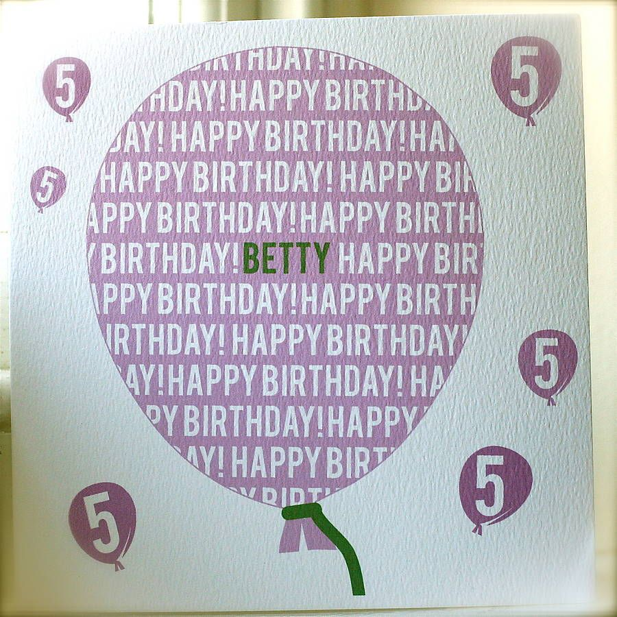 Personalised birthday balloon card birthdays card ideas and cards