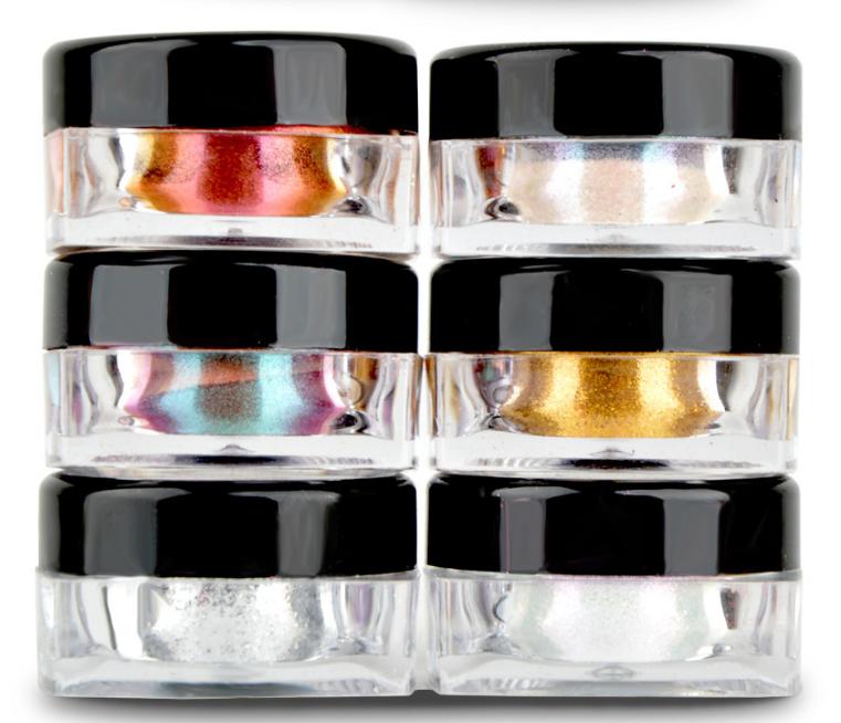 Chrome Color Nail Powder Set Of 6 Colors