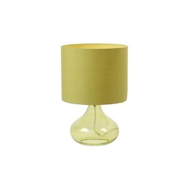 Endon Harrow-TLGR Harrow 1 light modern table lamp green glass finish with green shade - Table Lamps from Ocean Lighting UK