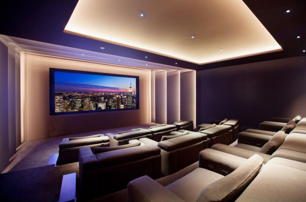 theaters throughout living room home design new | Modern Home Theater Style in 2019 | Home theater rooms, At ...