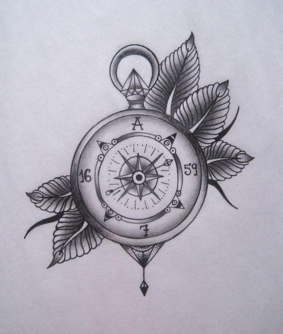Resultado De Imagen Para Tatuaje Brujula Blanco Y Negro Tatt