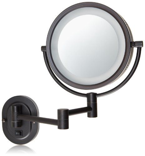 Jerdon hl65bzd 8 inch lighted wall mount direct wire makeup mirror jerdon hl65bzd 8 inch lighted wall mount direct wire makeup mirror with 5x magnification mozeypictures Image collections