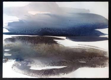 """The Secret Garden"" / Large Watercolor - Abstract Landscape"