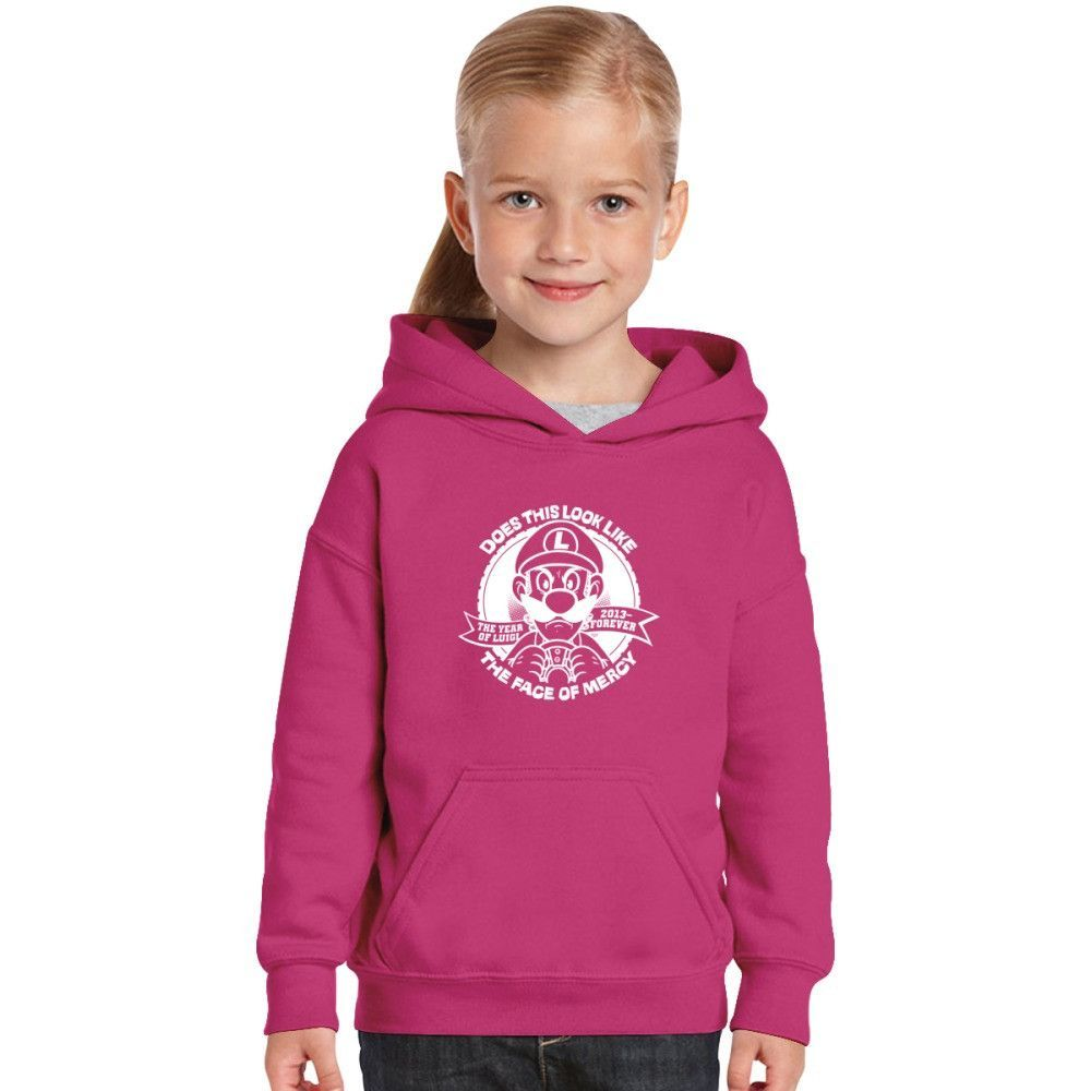 Luigi Does This Look Like The Face Of Mercy Kids Hoodie