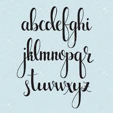 Image result for brush letter alphabet   Chalkboard Ideas