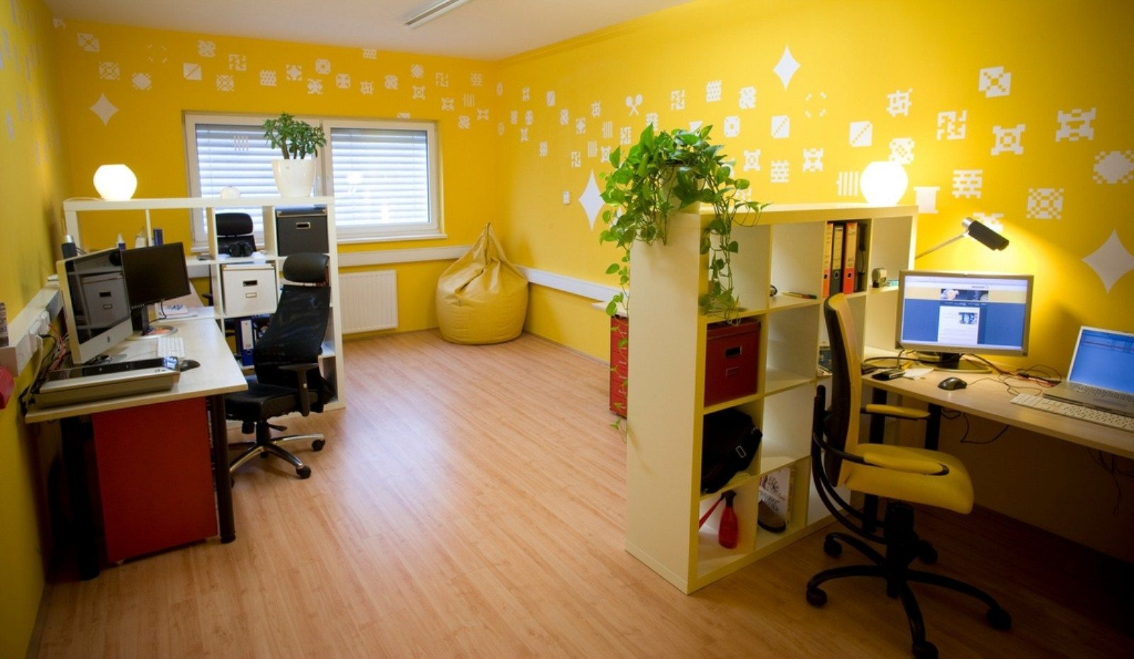 Perfect Home Office Wall Color Festooning - Wall Art Collections ...