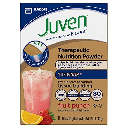 Juven Therapeutic Energy Drink Mix Fruit Punch 085 Ounce Pack Of