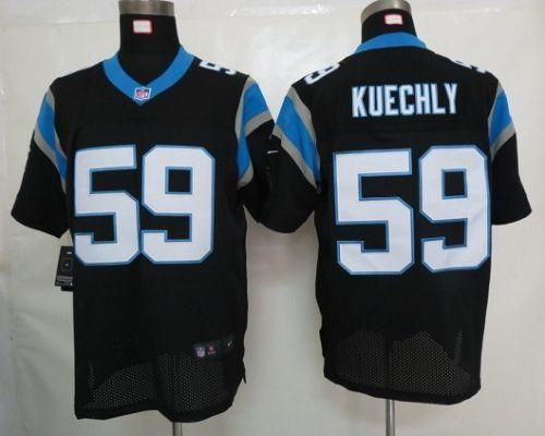 Nike Panthers  59 Luke Kuechly Black Team Color Men s Embroidered NFL Elite  Jersey! Only  25.00USD 789f52008