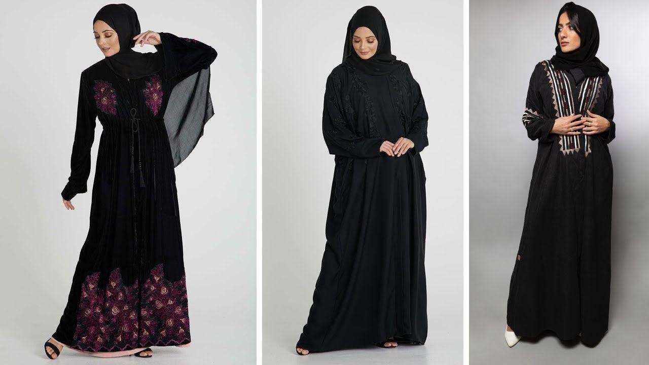 عبايات المحجبات سوداء موضة 2021 شيك Black Abayas Fashion Dresses Nun Dress