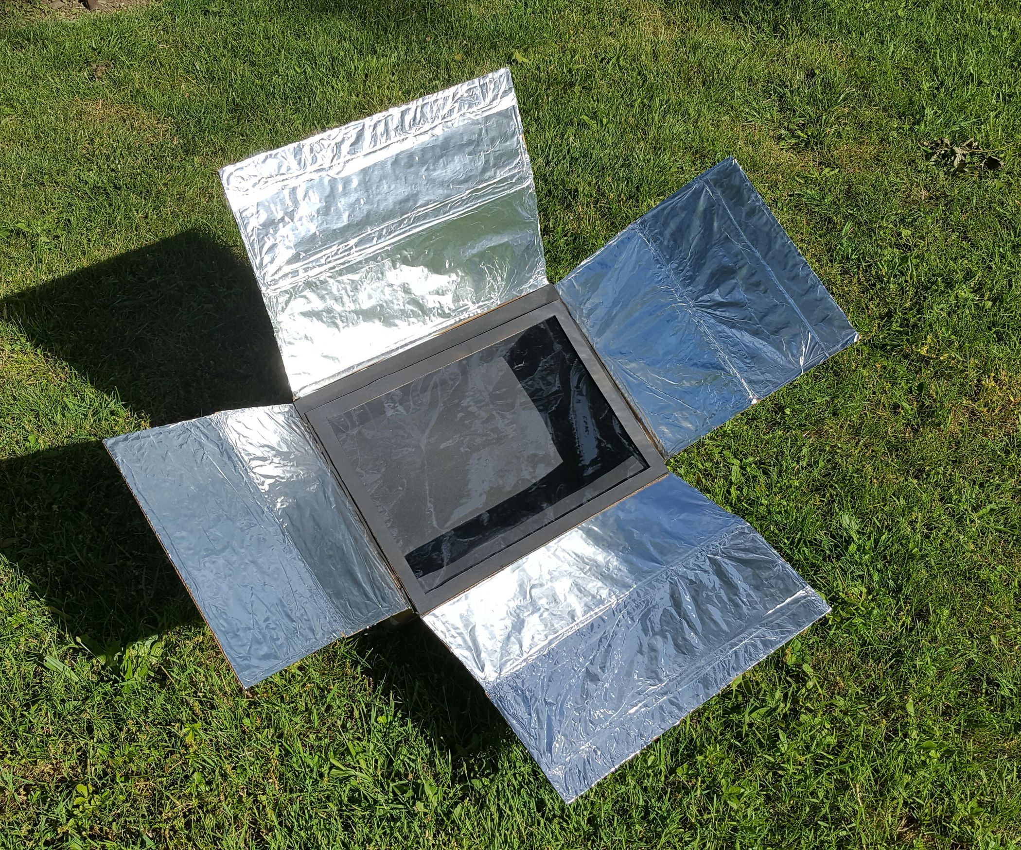 In this instructable I will show you how to create a DIY solar oven which can get up to around 200°F. I was able to use all materials I had laying around, so for me there was no additional cost, but you may need to buy a small piece of glass or acrylic. The entire base of this project was basically saved from the garbage, and I used all materials I had around, and even used many extra pieces from other projects. It's lightweight, compact, and ergonomic design makes it great for bringing ...